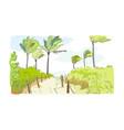 palm beach road sketch watercolor green clip art vector image