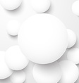 Paper white balls vector image
