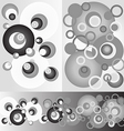 Pattern circles round monochrome background vector image vector image