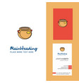 pot creative logo and business card vertical vector image vector image