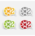 realistic design element casino chips vector image vector image