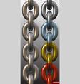 realistic metal chain links seamless vector image