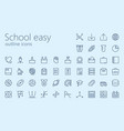 school easy outline icon set vector image vector image