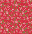 seamless pattern christmas and new year vector image