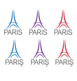 set eiffel tower vector image