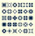 set of creative original design elements vector image vector image
