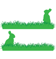 Simple bunny banner vector image vector image