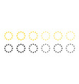 star icons in circle gold and black european vector image vector image