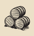 three barrels wine alcohol vintage