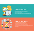 Time is money business concept in modern flat vector image vector image
