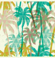 tropical summer print with palm seamless pattern vector image vector image
