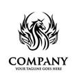 unicorn horse logo vector image