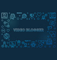 video blogger concept outline blue vector image vector image