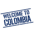 welcome to colombia stamp vector image vector image