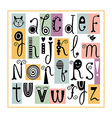Whimsical English Alphabet Cute Stylish Letters vector image