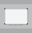 white board for office and school whiteboard with vector image vector image