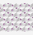 white purple cubes isometric seamless pattern vector image vector image