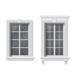 window in classic frame vector image vector image