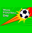 world football day concept banner flat style vector image