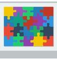 Puzzle of twenty pieces vector image