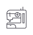 sewing machine line icon sign vector image