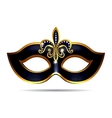 Black carnival mask vector image