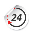 24 hours sticker label vector image vector image