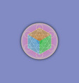 3d metatrons cube colorful flower life logo vector image vector image