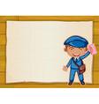 a boy and a board vector image vector image