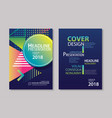 abstract gradient modern geometric flyer and vector image vector image