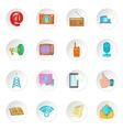 Advertisement icons cartoon style vector image vector image