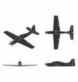 airplane tucano black fill vector image vector image