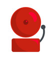 alarm icon flat style vector image vector image