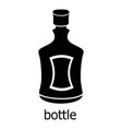 alcohol bottle icon simple black style vector image vector image