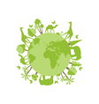 Animals on the planet animal vector image vector image