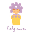 Baby arrival baby in pot vector image vector image