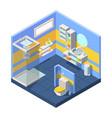bathroom isometric compact bathroom vector image vector image