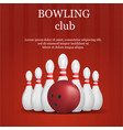 bowling club concept background realistic style vector image