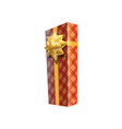 box in checkered wrapping vector image vector image