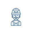 builder line icon concept builder flat vector image vector image