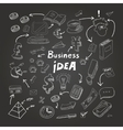 Business doodles chalk on blackboard eps10 vector image vector image