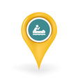 Canoeing Location vector image vector image