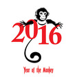 Chinese new year 2016 Monkey year vector image vector image