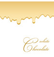 chocolate seamless pattern drip white vector image