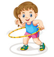 chubby girl doing exercise vector image