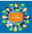 client testimonials consumer feedback service vector image vector image