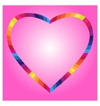 color heart symbol isolated on pink background vector image vector image