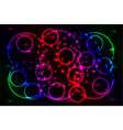 colored glowing rings vector image