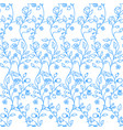 colorful floral background seamless pattern vector image vector image