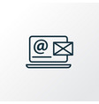 contact form icon line symbol premium quality vector image vector image